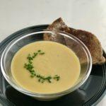 vegan beer and cheddar soup