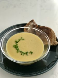 vegan beer and cheddar soup