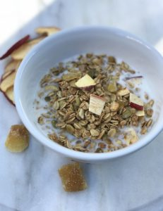 ginger, apples, and oats