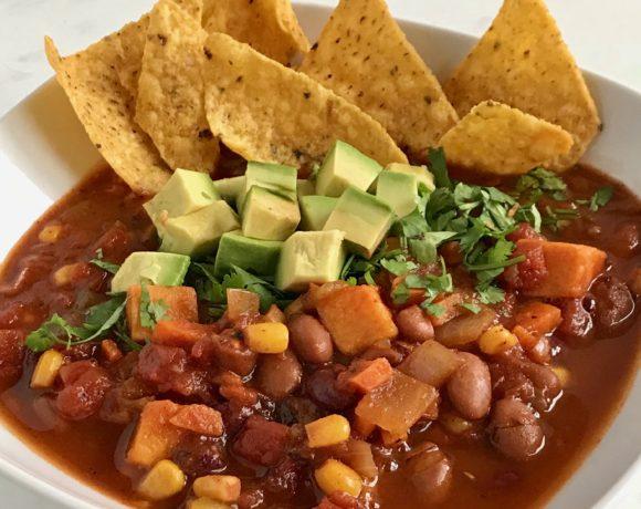 vegan sweet potato chili