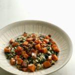 Smokey yam and kale bowl