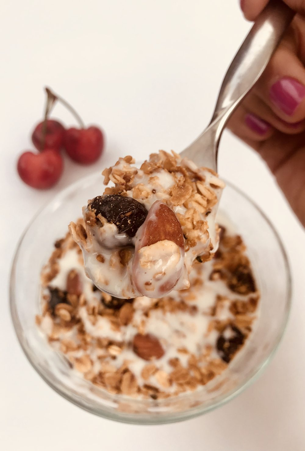 Cherry almond granola makes your cells sing